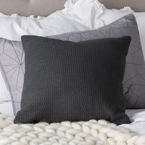 Brezza Textured Basketweave 100% Cotton Throw Pillow by Eider & Ivory